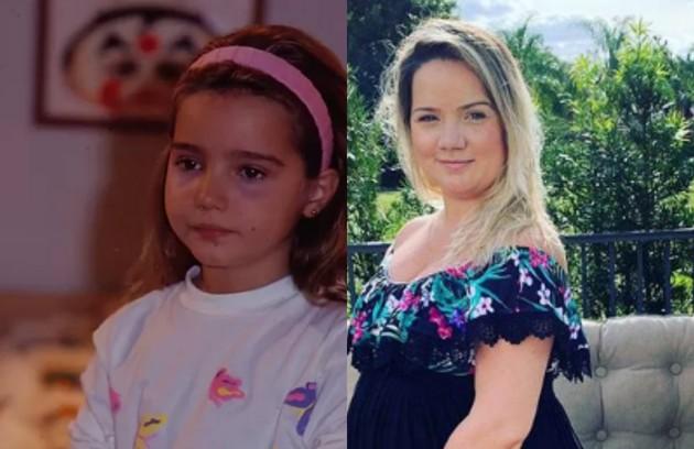 Tatyane Goulart estreou na TV em 1991 em 'Felicidade' como Bia. Atualmente, administra um estúdio de dublagem e está grávida de sua primeira filha (Foto: TV Globo)