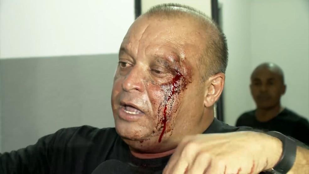 O jornalista Justino Filho alegou à polícia que foi ameaçado de morte pelo prefeito após a discussão. — Foto: Reprodução/TV Mirante
