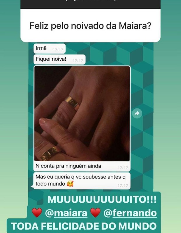 Conversa de Marília Mendonça e Maiara (Foto: Reprodução/ Instagram)
