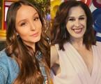 Larissa Manoela e Claudia Raia | Reprodução e TV Globo
