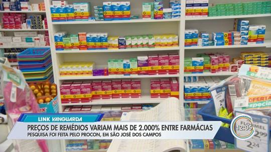 Preço dos remédios varia mais de 2200% em farmácias de São José