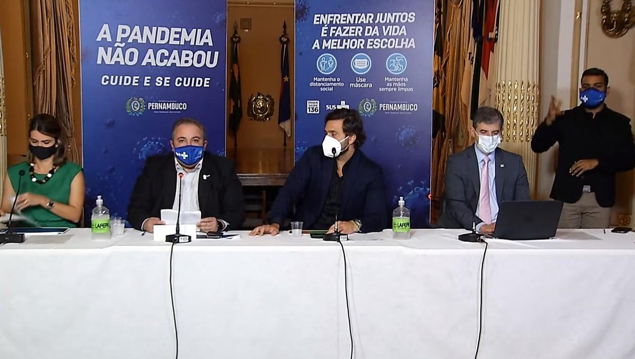 Governo de PE libera atividades no Grande Recife, Zona da Mata, Agreste e parte do Sertão e autoriza mutirão de 2ª dose da Coronavac