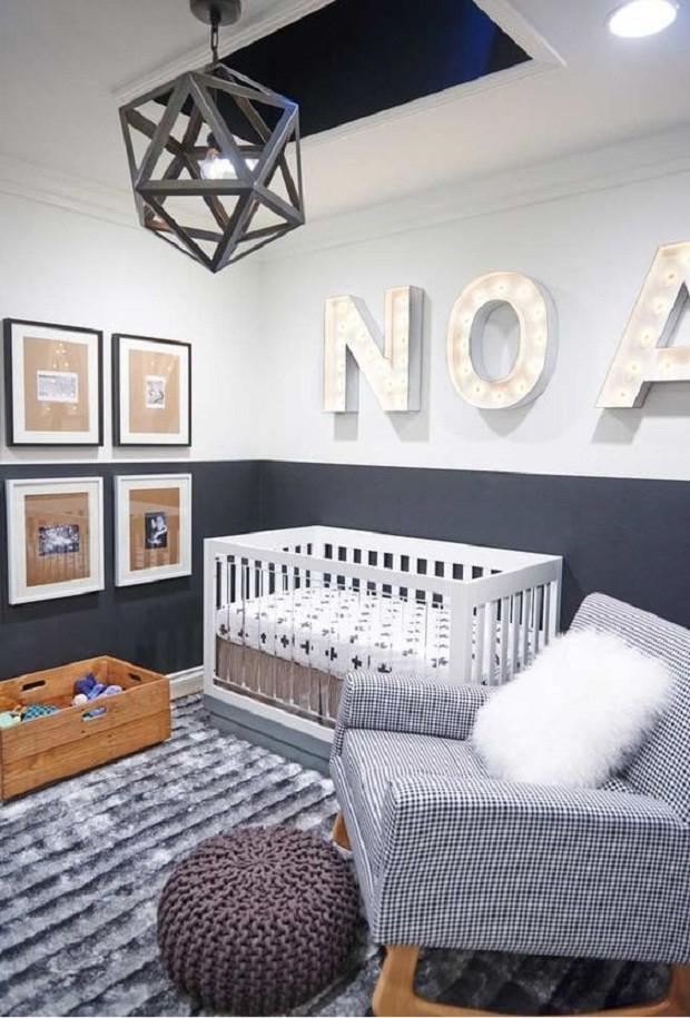 A combinação preto e cinza é super contemporânea (Foto: Pinterest)