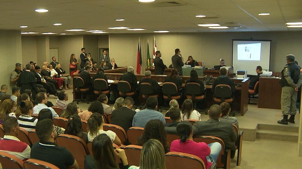 Julgamento aconteceu no Fórum Criminal de João Pessoa (Foto: Reprodução/TV Cabo Branco)