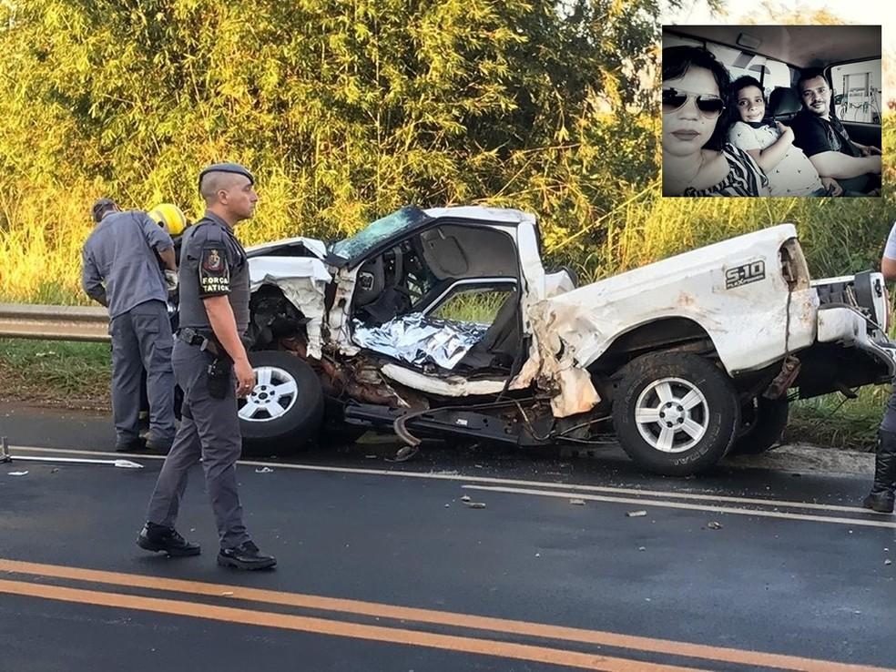 Família morreu após caminhão atingir caminhonete em rodovia  — Foto: Arquivo Pessoal