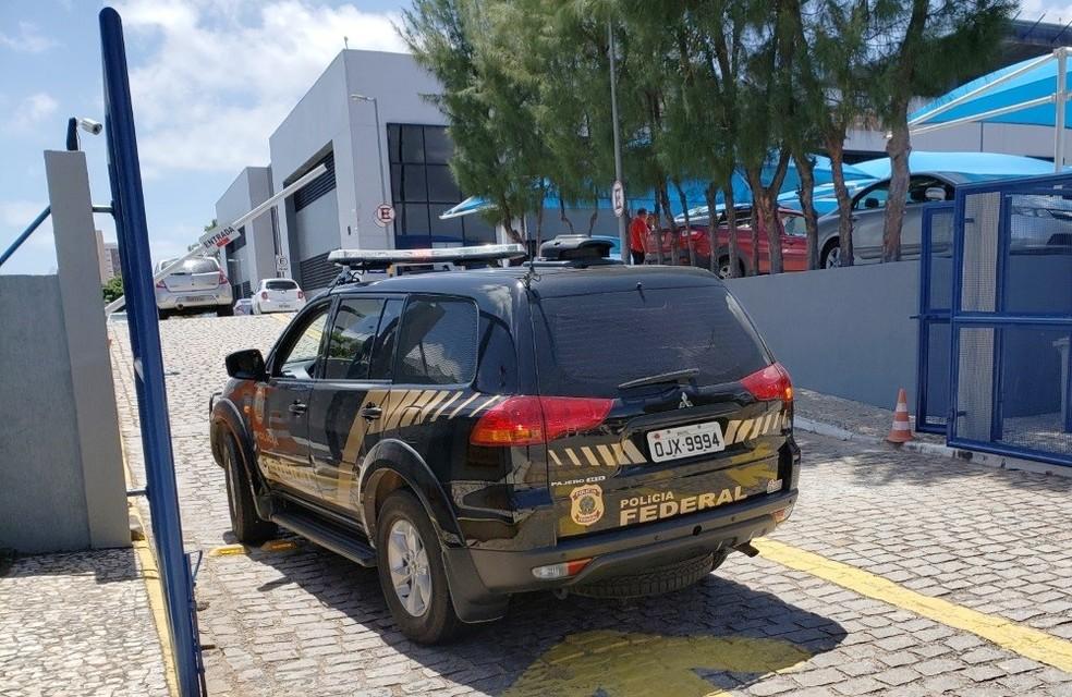 Detido foi levado para a sede da PF em Natal, onde permanece sob custódia — Foto: PF-RN/Divulgação