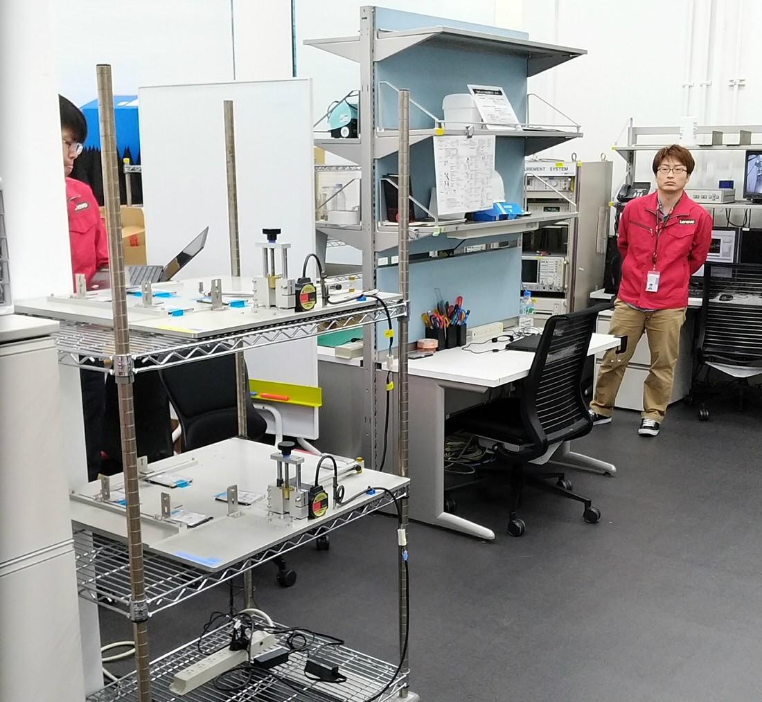 Laboratório de testes da Lenovo no Japão (Foto: Thiago Tanji)