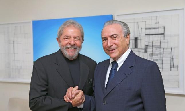 Michel Temer e Lula (Foto: Ricardo Stuckert)