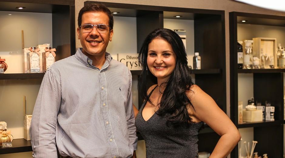Rafael Mamede e Nayana Pedreira fundaram a Acqua Aroma (Foto: Divulgação)