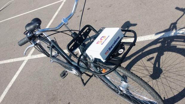 Bicicleta conectada a rede 5G (Foto: Marcos Coronato)