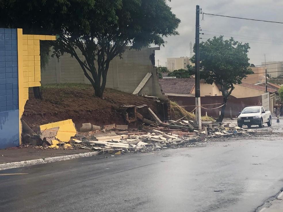 Chuva causou estragos em Marília — Foto: Arquivo pessoal/Eraldo Camargo