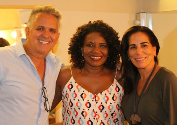 Gloria Pires e Orlando Morais com Margareth Menezes (Foto: Wallace Barbosa/AgNews)