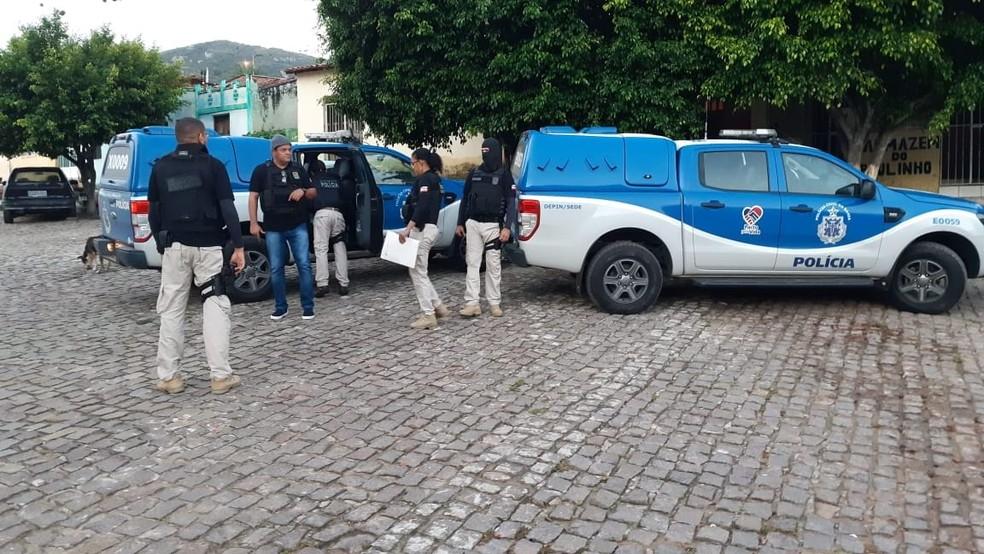 Operação foi realizada em municípios da região norte da Bahia, nesta terça-feira (26) — Foto: SSP/ Divulgação