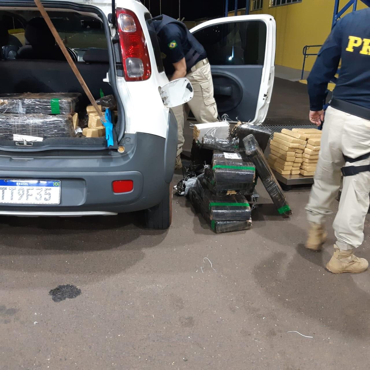 Polícias apreendem mais de uma tonelada de maconha em duas rodovias do Paraná