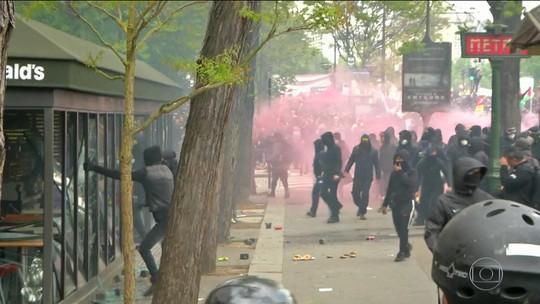 Em Paris, 200 jovens são presos por vandalismo no Primeiro de Maio