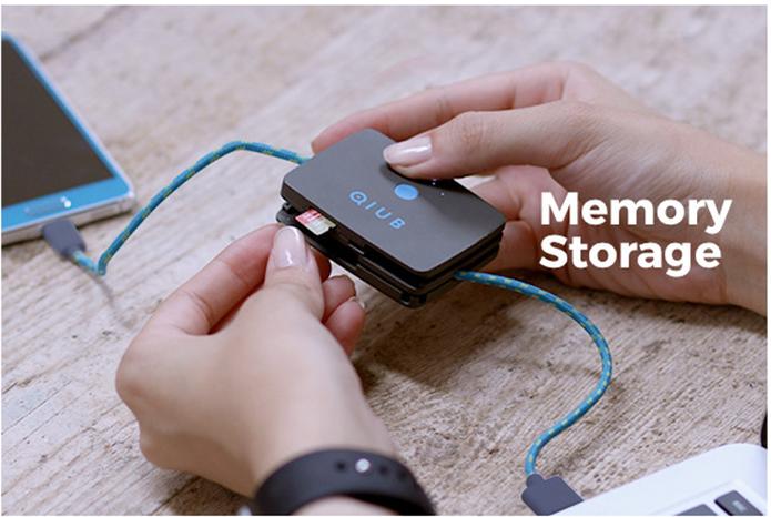 Qiub permite ler cartões de memória microSD de até 64 GB (Foto: Divulgação/Qiub)