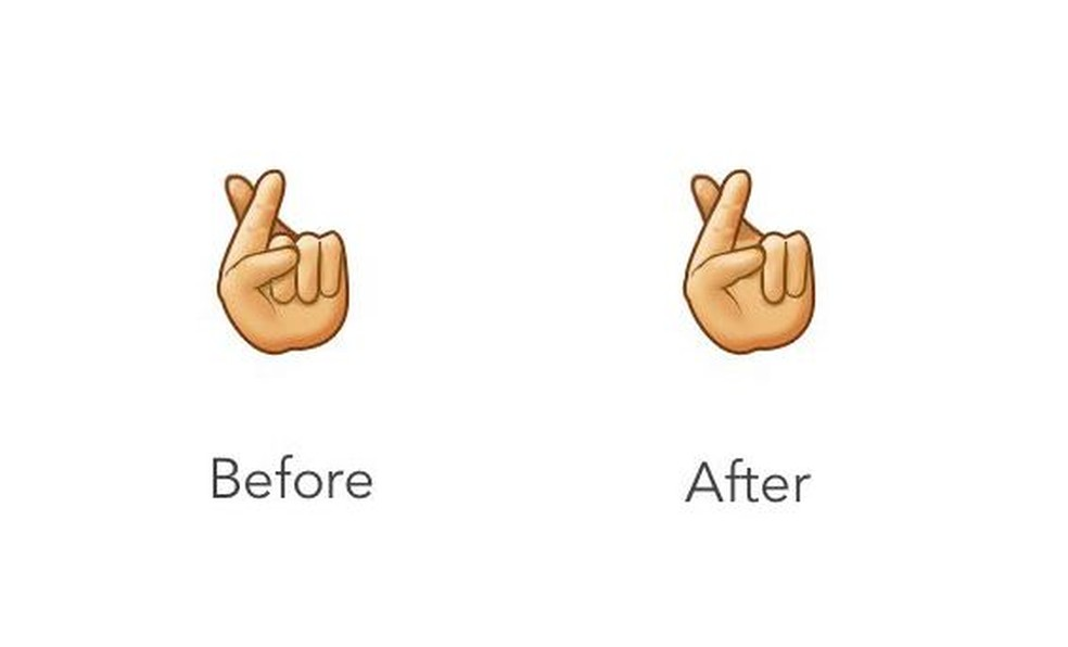 Emoji da Sag tinha seis dedos — Foto: Reprodução/ Emojipedia