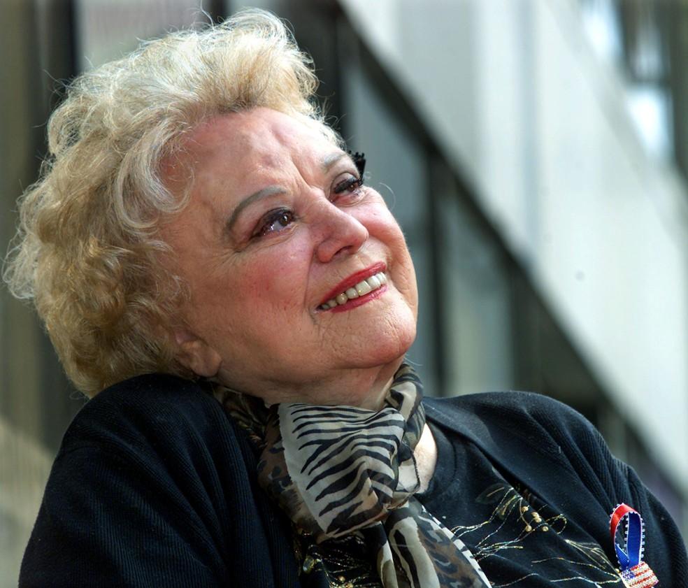 A atriz Rose Marie em foto de outubro de 2001  (Foto: Rose Prouser/Reuters)