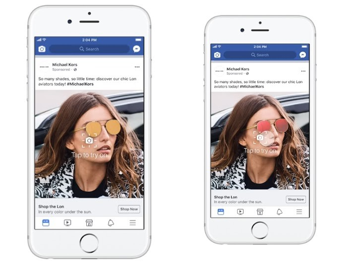 Facebook testa realidade aumentada em anúncios (Foto: Facebook)