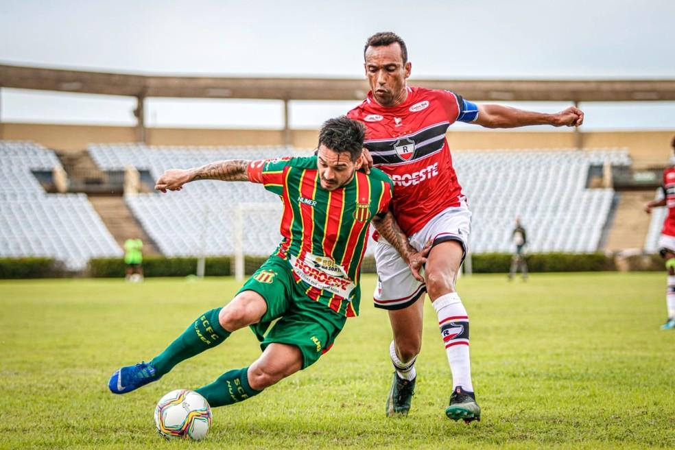 Sampaio venceu o River por 3 a 2, de virada, jogando em Teresina — Foto: Lucas Almeida/L17 Comunicação