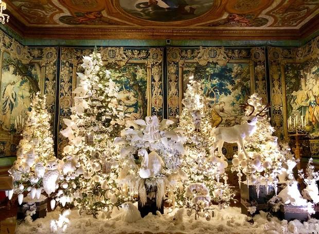 Decoração de Natal do Château de Vaux-le-Vicomte, castelo perto de Paris  (Foto: Instagram/ Reprodução )
