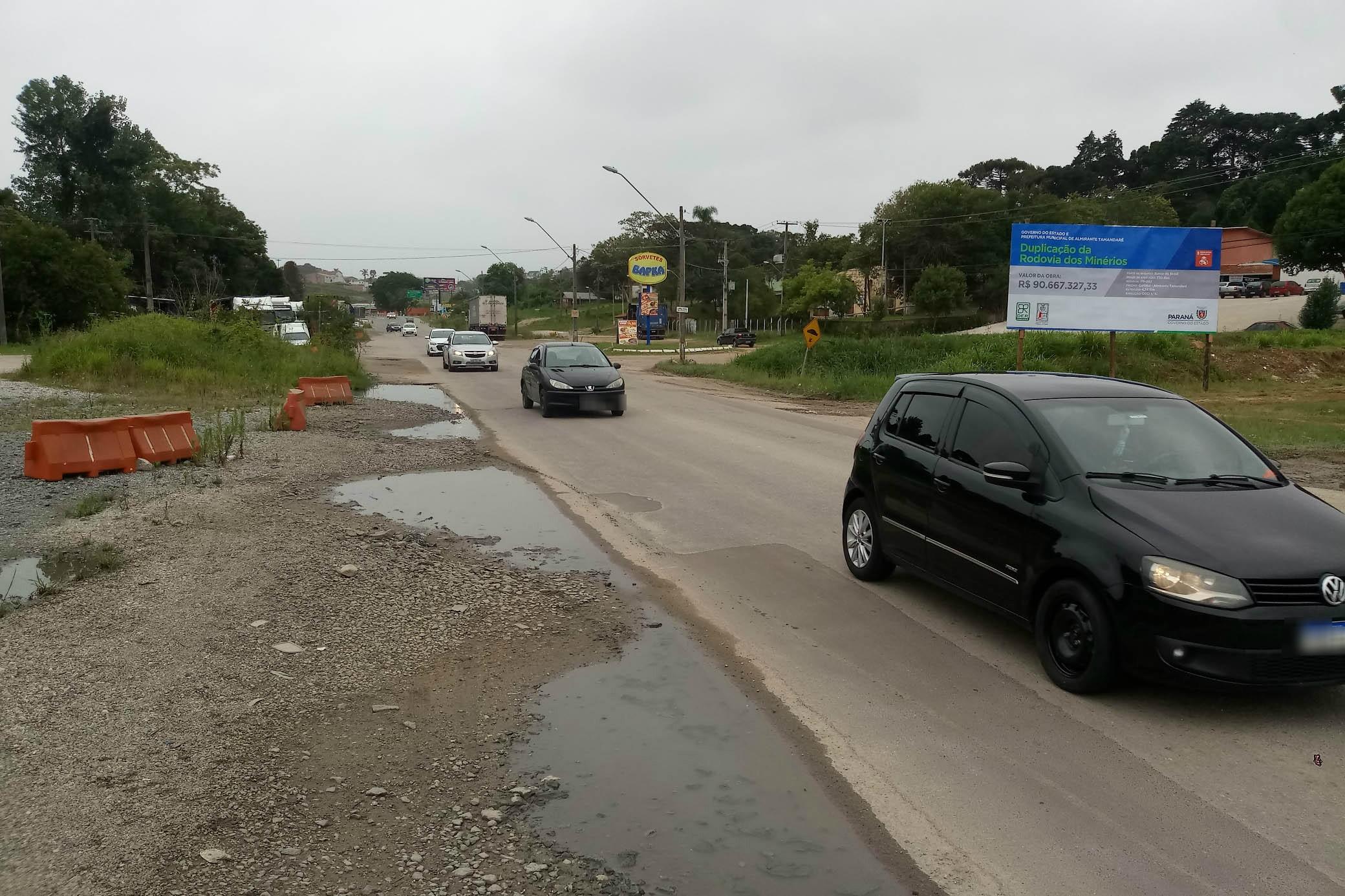 Obras de duplicação da Rodovia dos Minérios vão causar alterações no trânsito, em Curitiba