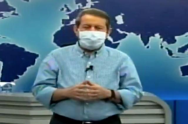 R.R. Soares apresenta o seu programa de máscara (Foto: Reprodução)