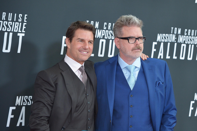 O ator Tom Cruise e o diretor Christopher McQuarrie (Foto: Getty Images)