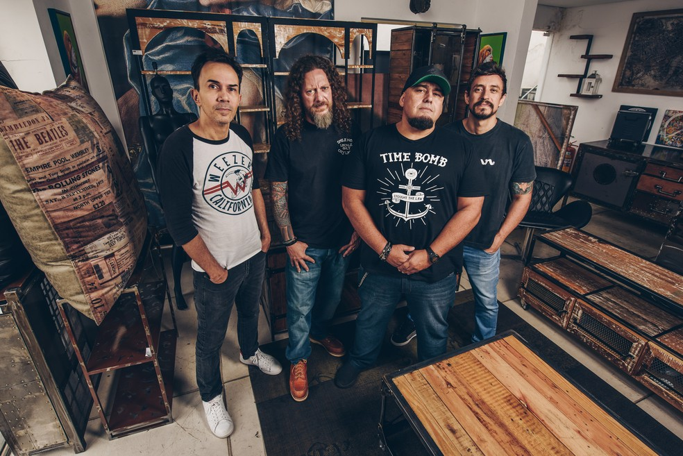 A banda Raimundos se apresenta com o Planet Hemp para comemorar o Dia Mundial do Rock — Foto: Divulgação