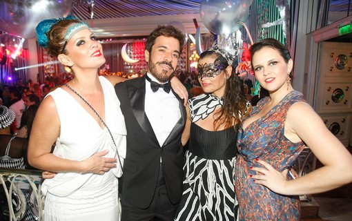 Virginia Falcão, Marcello Gutenberg, Dominique Magalhães e Carolina Luna
