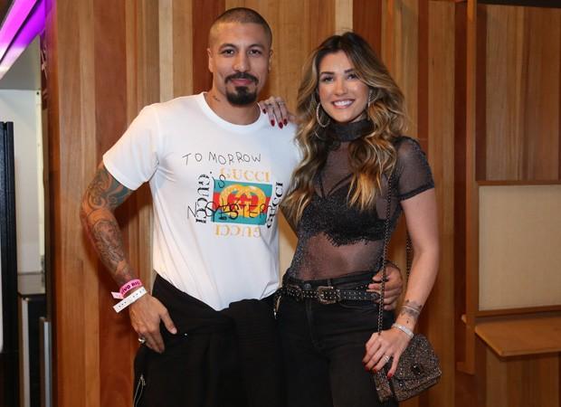 Fernando Medeiros e Aline Gotschalg - Festa Funk no Vivo Rio, Rio de Janeiro, RJ. (30/04/18) Foto: Roberto Filho / Brazil News. (Foto: ROBERTO FILHO / BRAZIL NEWS)