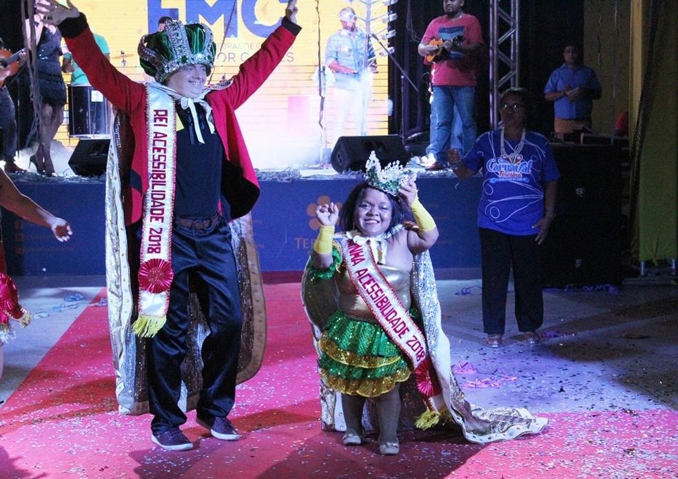 Baile define Rei e Rainha da Acessibilidade do Carnaval 2018 de Teresina (Foto: Divulgação/Semcaspi)