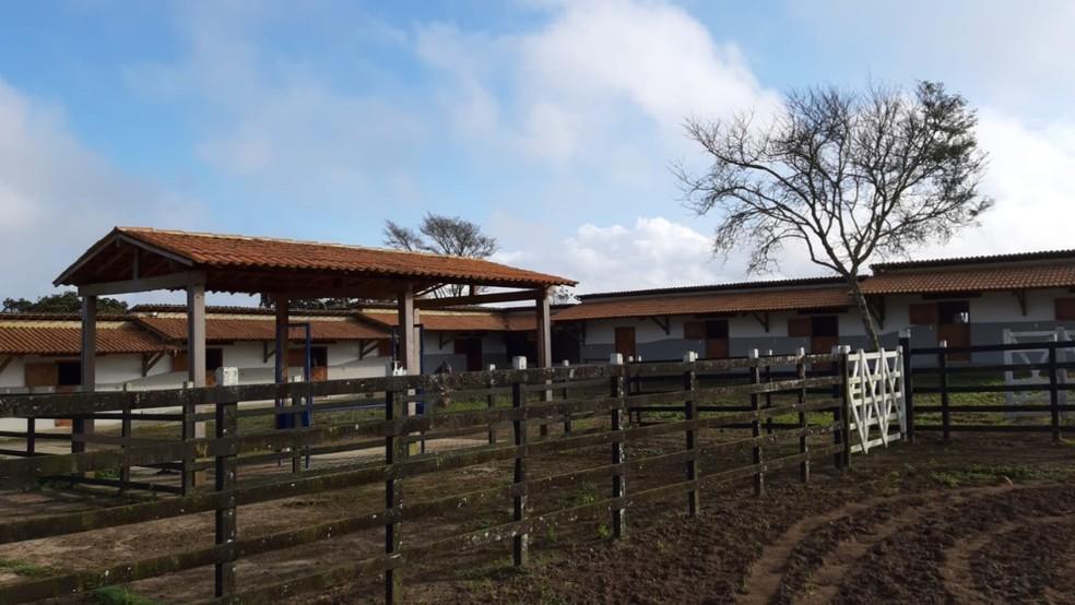 Um dos bens que teve o sequestro determinado pela Justiça Federal em megaoperação da Polícia Federal foi uma fazenda — Foto: Polícia Federal/Divulgação