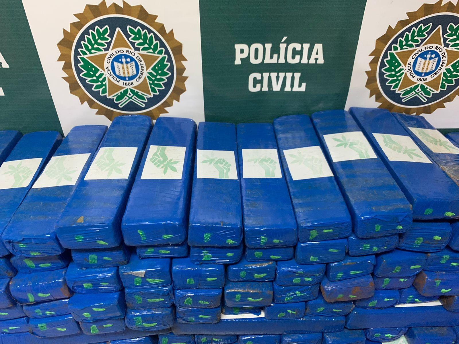 Polícia Civil apreende 200 kg de maconha na Zona Norte do Rio