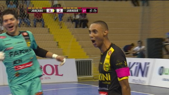 Os gols de Joaçaba 0 x 2 Jaraguá pela Liga Nacional de futsal