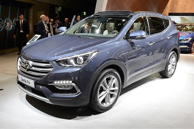 Hyundai Santa Fe no Salão de Frankfurt 2015 (Foto: Newspress)
