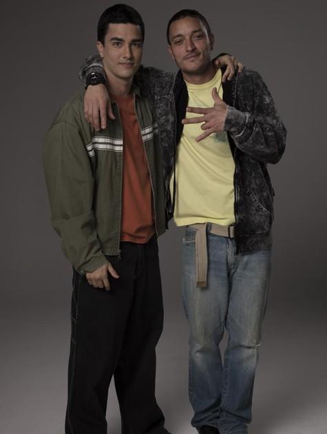 Leonardo Bittencourt e Allan Souza Lima caracterizados como Daniel e Christian Cravinhos  (Foto: Divulgação)