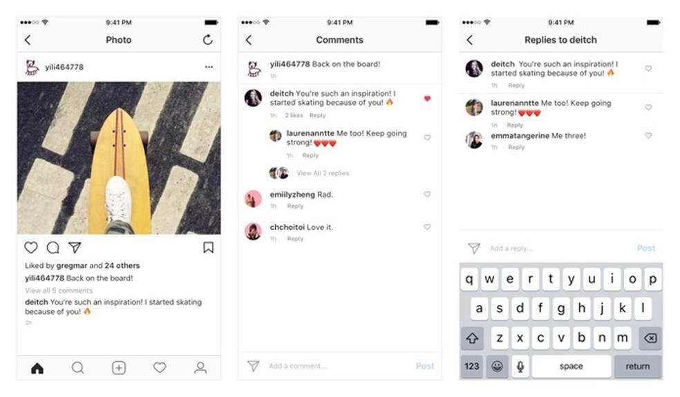 Instagram ganha sistema de comentários em tópicos (Foto: Divulgação/Instagram)