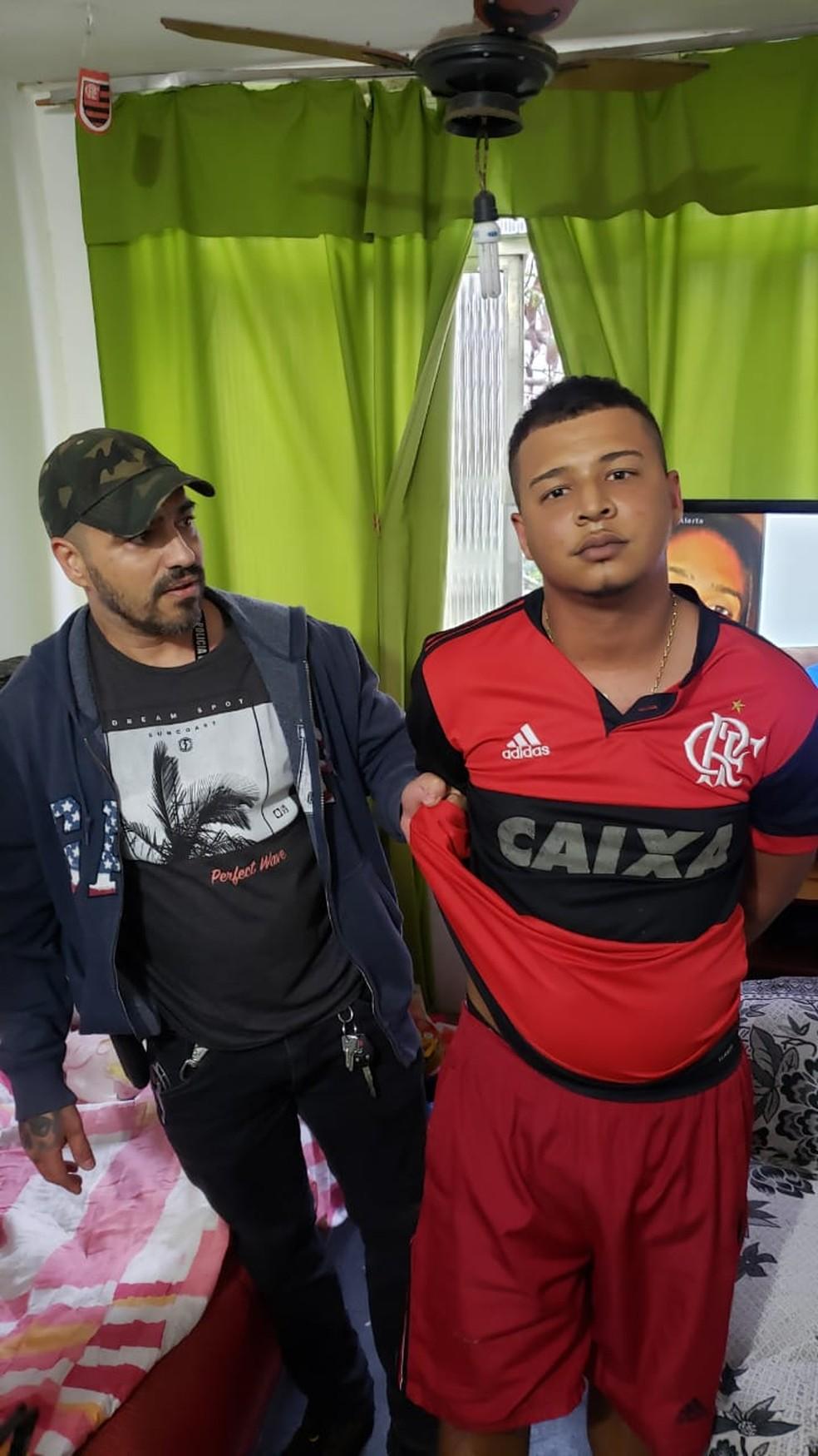 Assaltante Guety do Viradouro foi preso nesta terça-feira (13) por policiais civis — Foto: Divulgação/Polícia Civil
