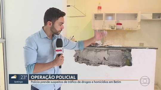 Polícia Civil faz operação contra o tráfico de drogas em Betim