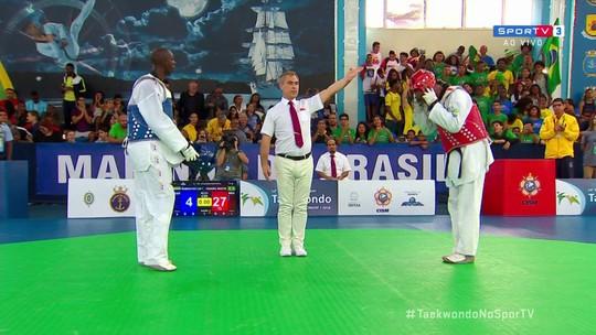 Maicon Andrade derrota gabonês e garante a medalha de bronze no Mundial Militar de Taekwondo
