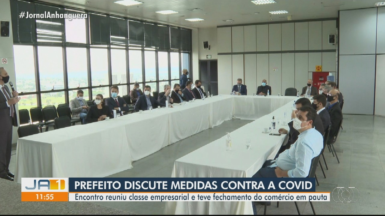 Prefeito e empresários discutem situação da Covid-19 em Goiânia