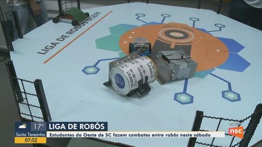 Estudantes do Oeste de SC fazem combates entre robôs neste sábado