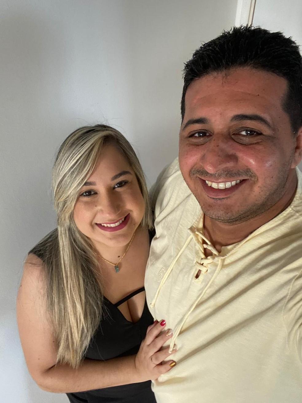 Kiara e Franklin estão trabalhando juntos para realizarem o sonho de ter o próprio negócio — Foto: Kiara Machado/Arquivo pessoal