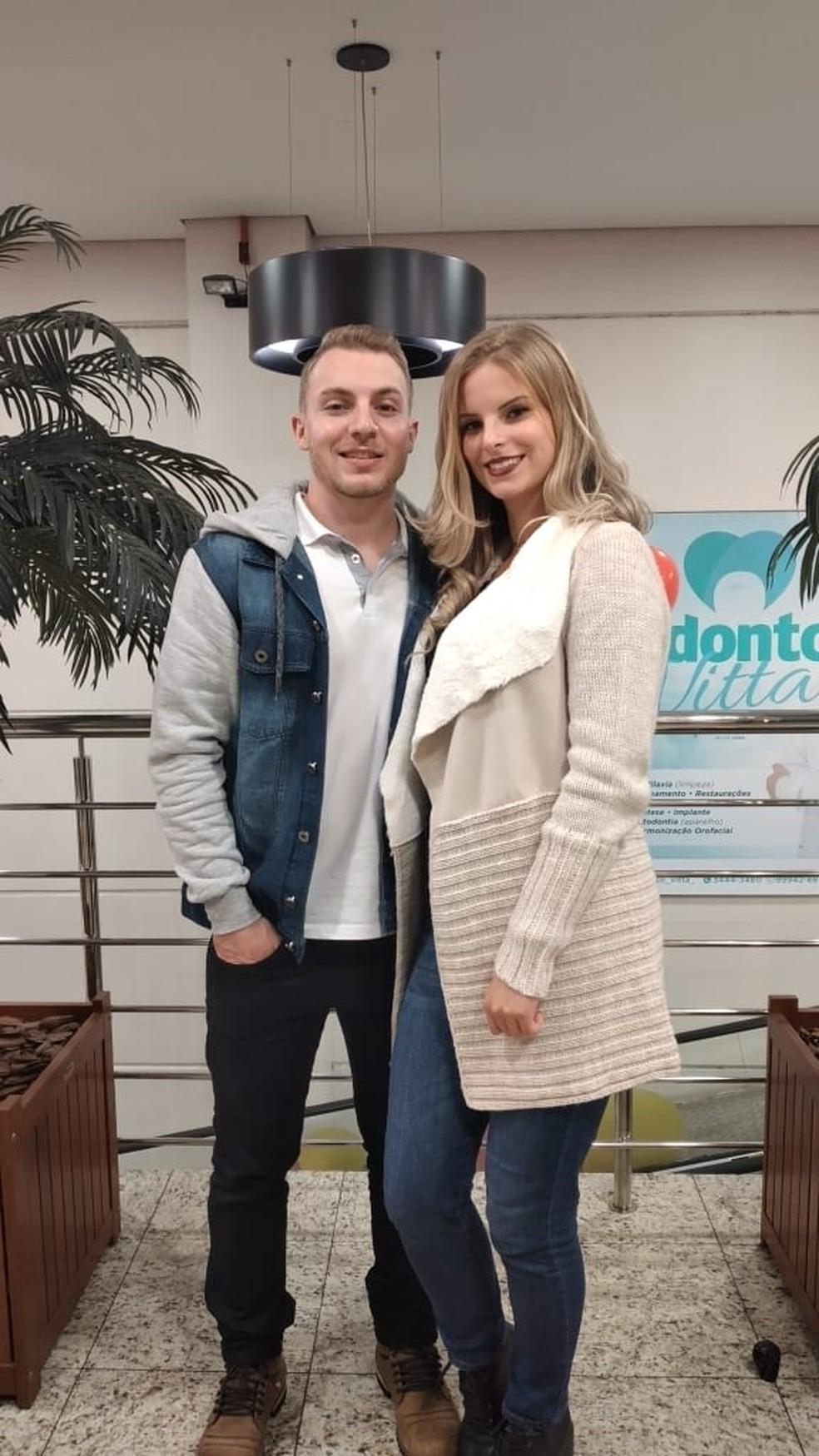 Bruna e Jarlan moravam juntos há três anos em Ipira — Foto: Jarlan Tieppo/ Redes sociais