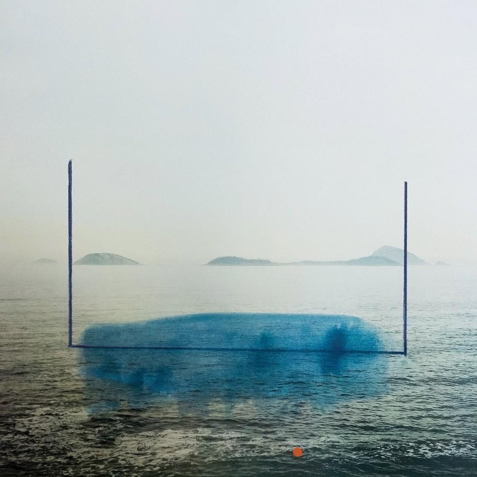 Capa do álbum 'Respiro', da banda Scalene — Foto: Arte de Alice Quaresma