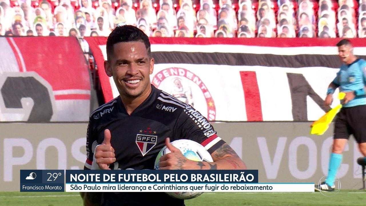 Noite de futebol pelo Brasileirão