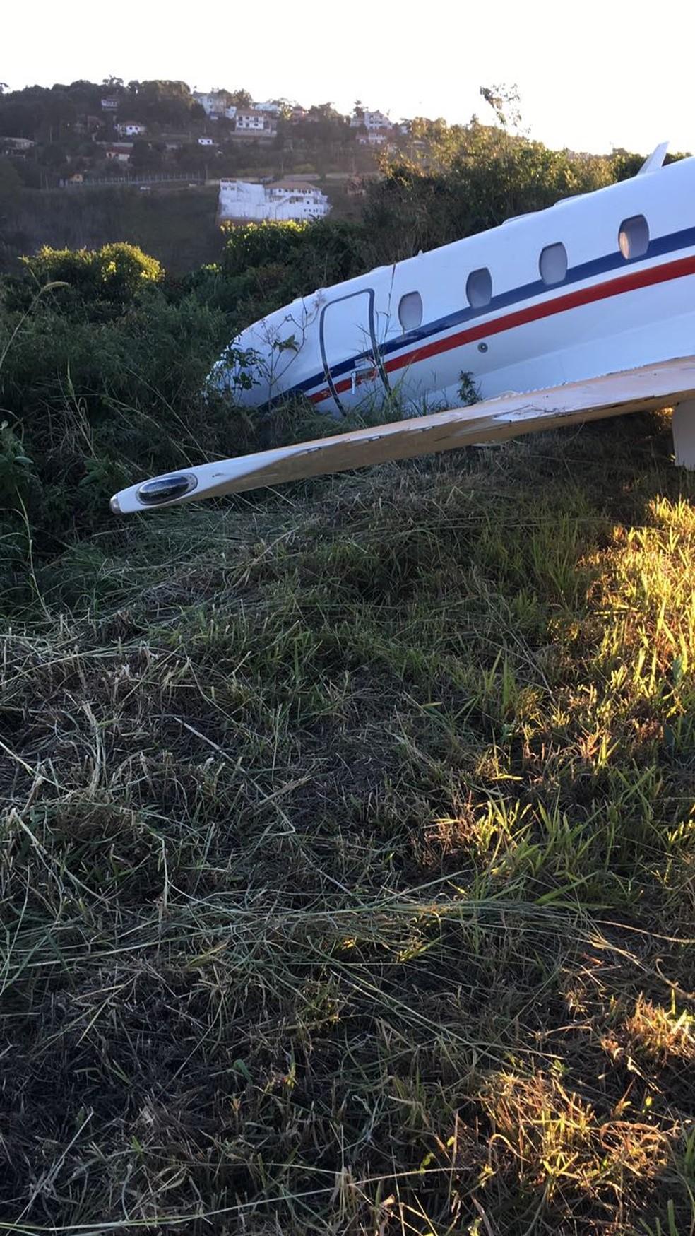 Aeronave que transportava o DJ Alok sai da pista em Juiz de Fora (Foto: Arquivo pessoal)