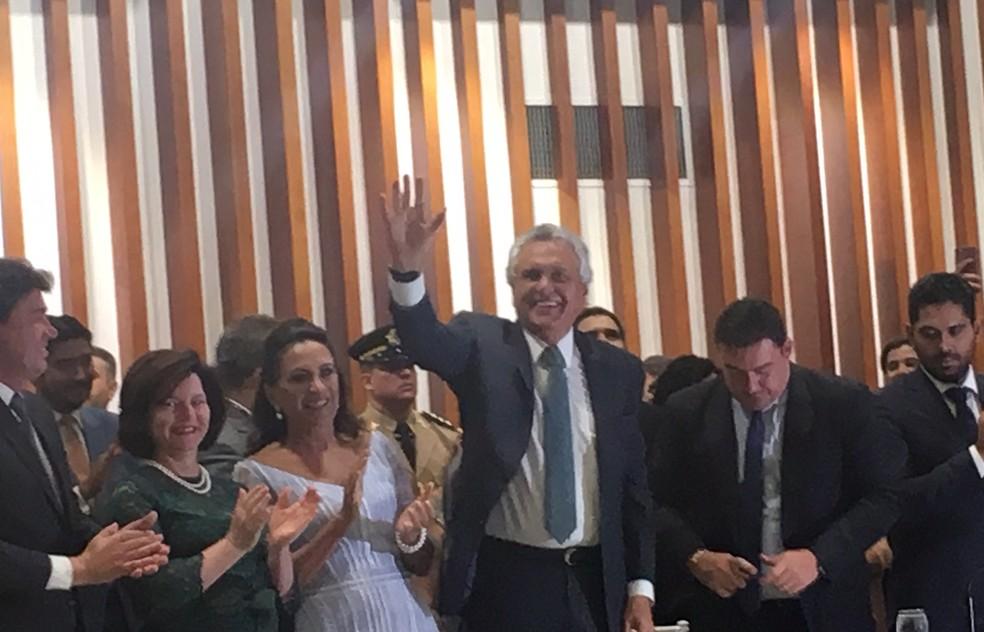 Ronaldo Caiado é empossado governador do Estado de Goiás — Foto: Silvio Túlio/G1