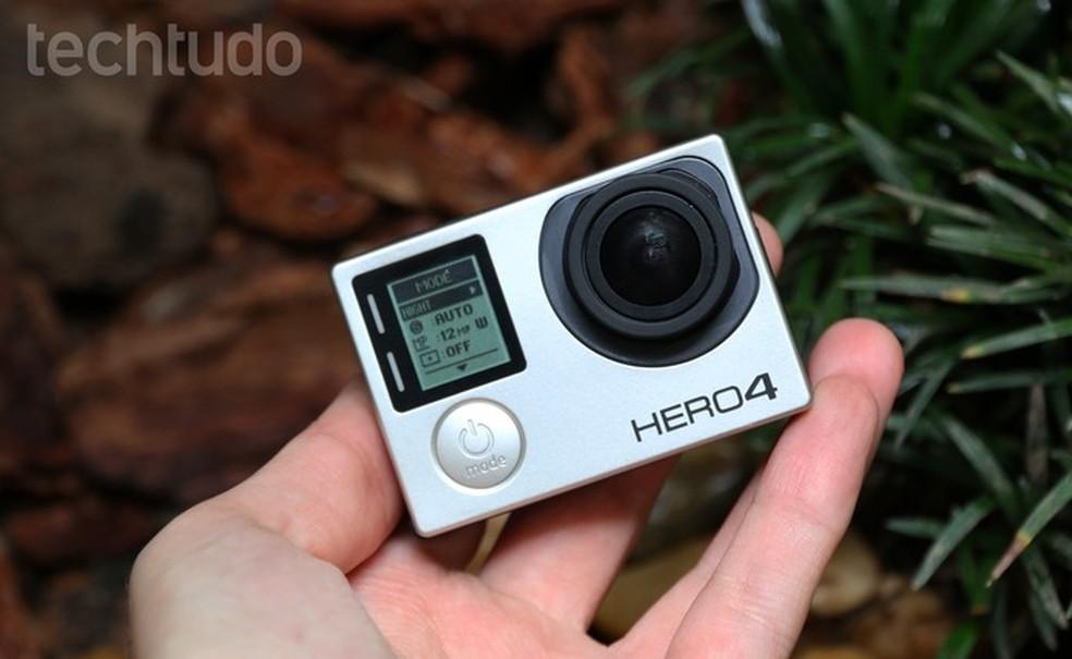 Hero4 Black grava em 4K, mas não tem o mesmo nível de tecnologia da Hero5 Black (Foto: Luciana Maline/TechTudo)